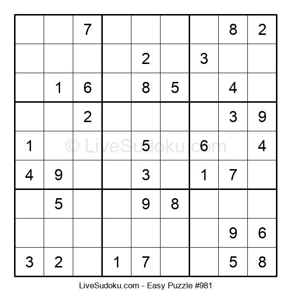 Beginners Puzzle #981