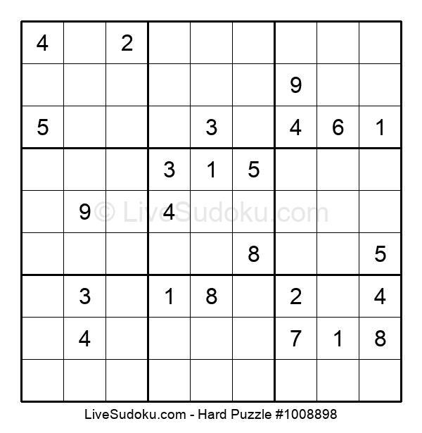 Hard Puzzle #1008898