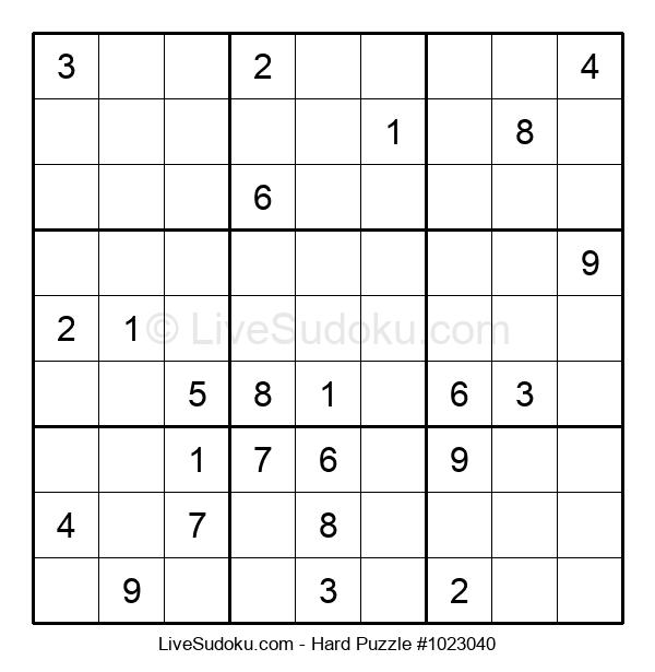 Hard Puzzle #1023040