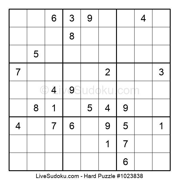 Hard Puzzle #1023838