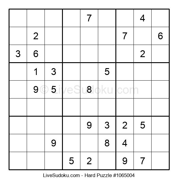 Hard Puzzle #1065004