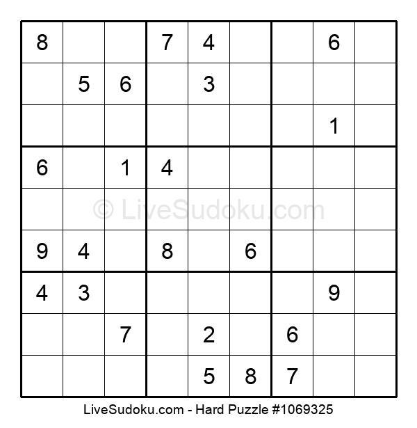 Hard Puzzle #1069325