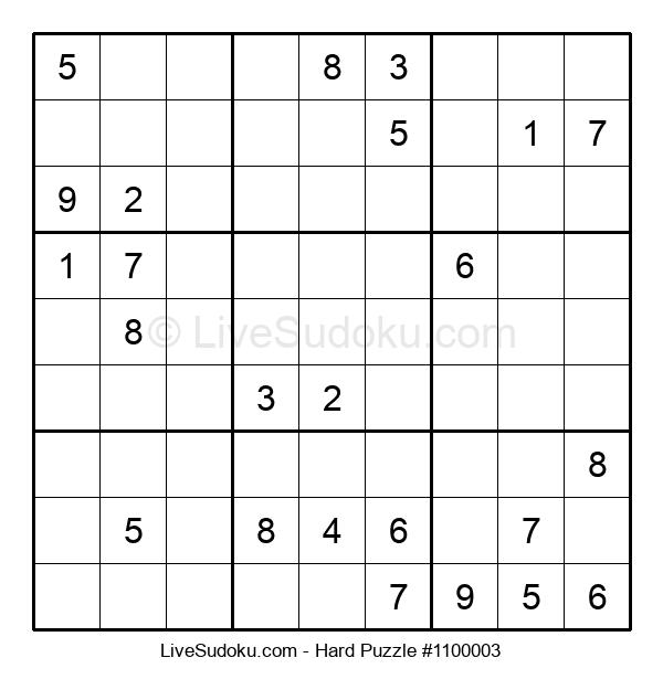 Hard Puzzle #1100003