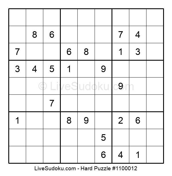 Hard Puzzle #1100012