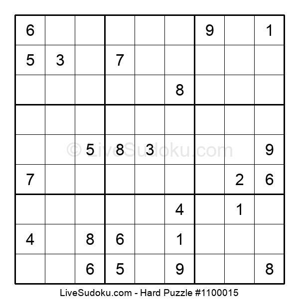 Hard Puzzle #1100015