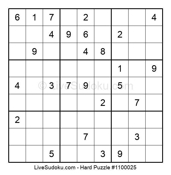 Hard Puzzle #1100025