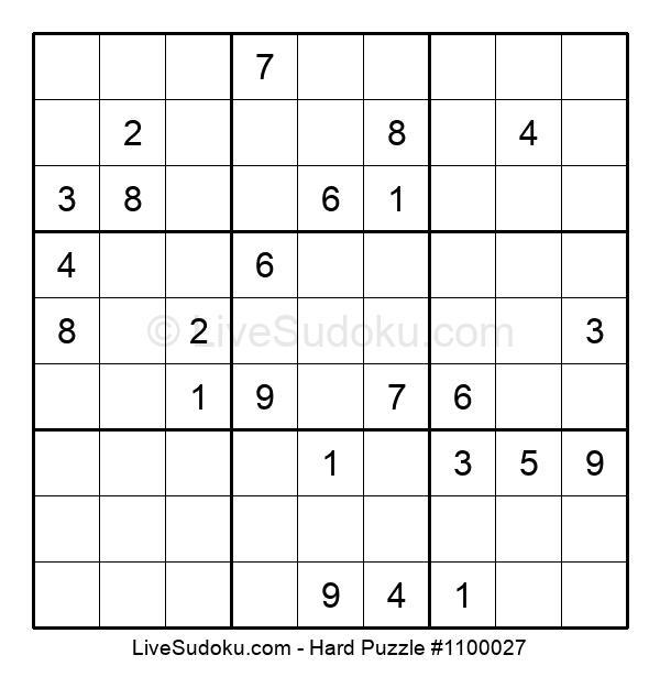 Hard Puzzle #1100027