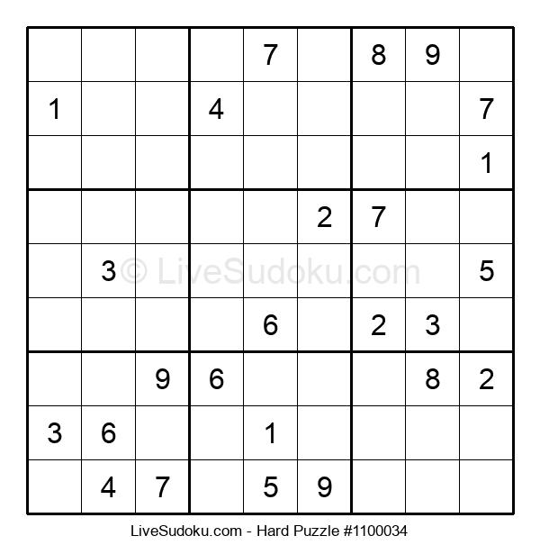 Hard Puzzle #1100034