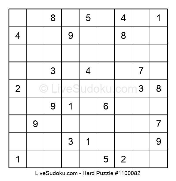 Hard Puzzle #1100082