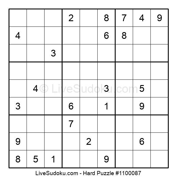 Hard Puzzle #1100087