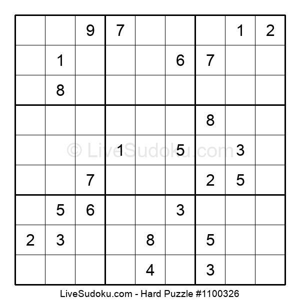Hard Puzzle #1100326
