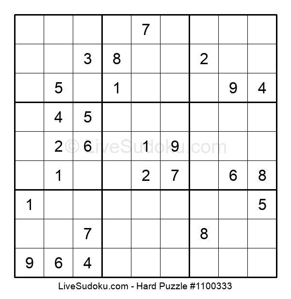 Hard Puzzle #1100333