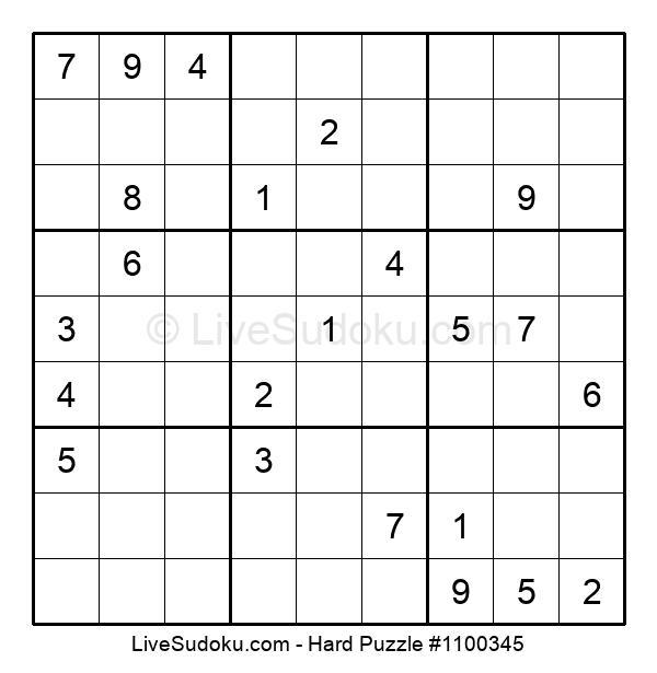 Hard Puzzle #1100345