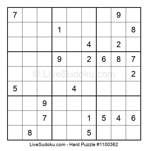 Hard Puzzle #1100362