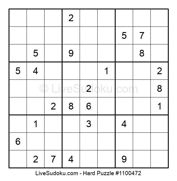 Hard Puzzle #1100472
