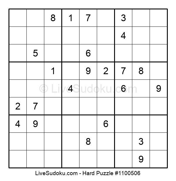 Hard Puzzle #1100506