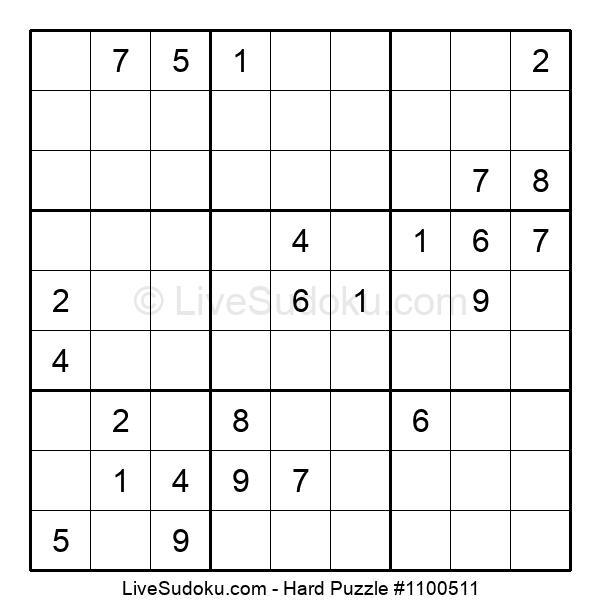 Hard Puzzle #1100511
