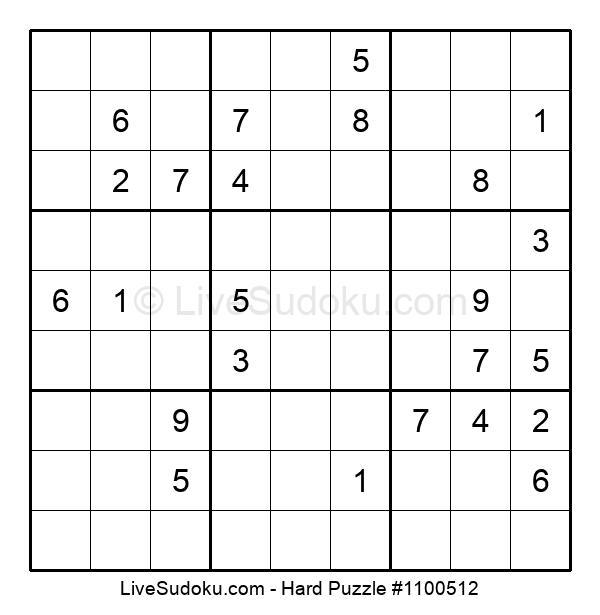 Hard Puzzle #1100512