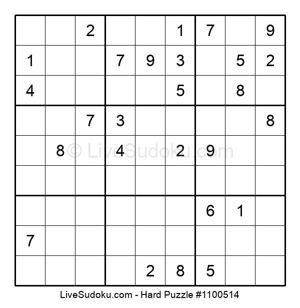 Hard Puzzle #1100514