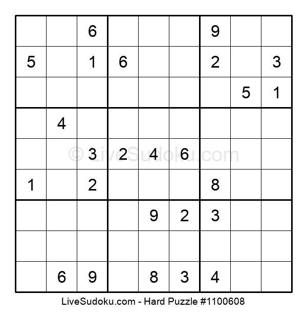 Hard Puzzle #1100608