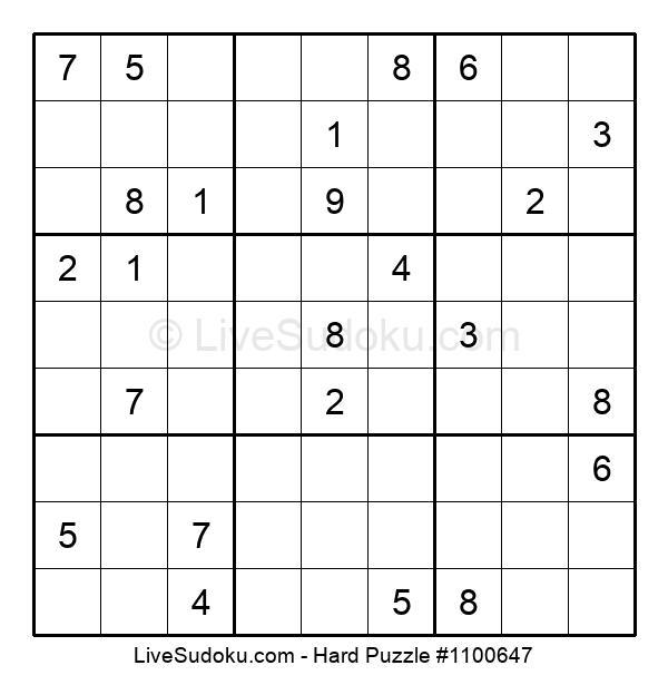 Hard Puzzle #1100647