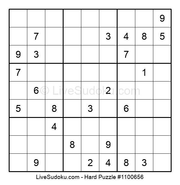 Hard Puzzle #1100656
