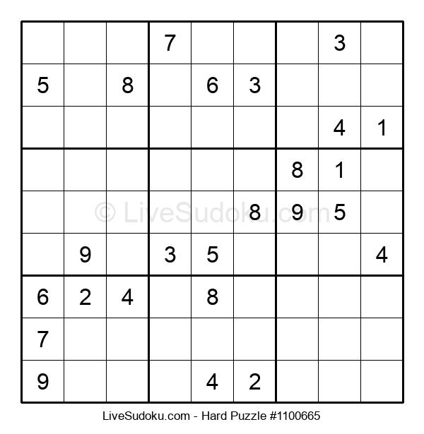 Hard Puzzle #1100665