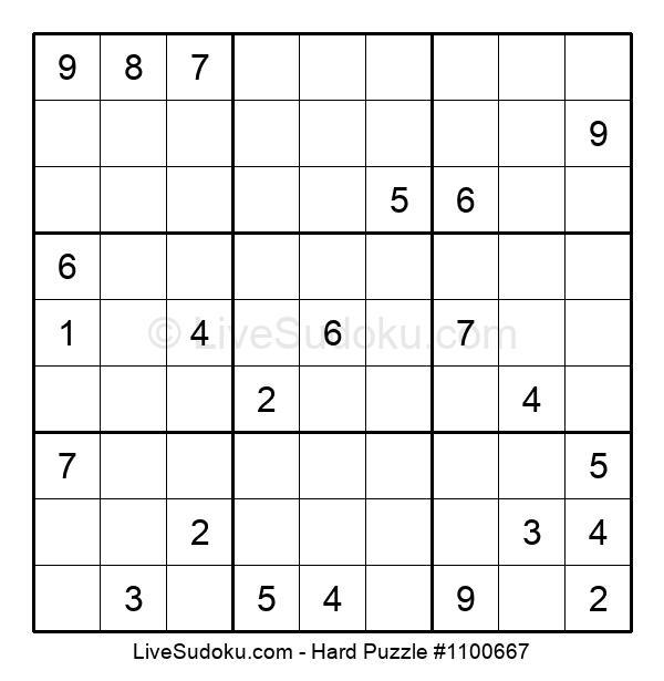 Hard Puzzle #1100667