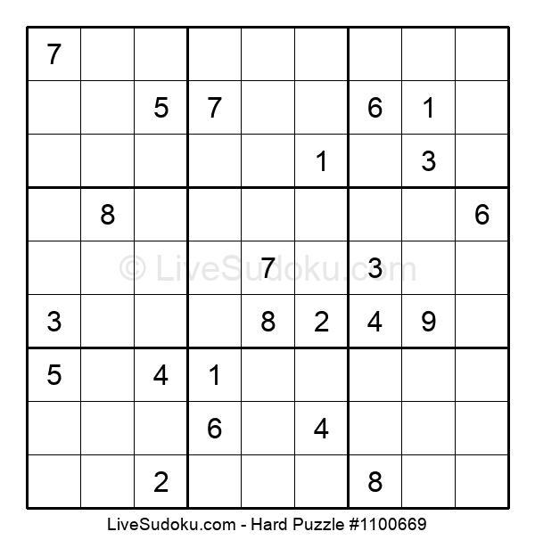 Hard Puzzle #1100669