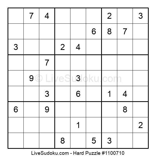 Hard Puzzle #1100710