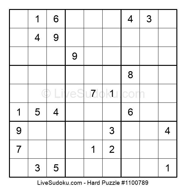 Hard Puzzle #1100789