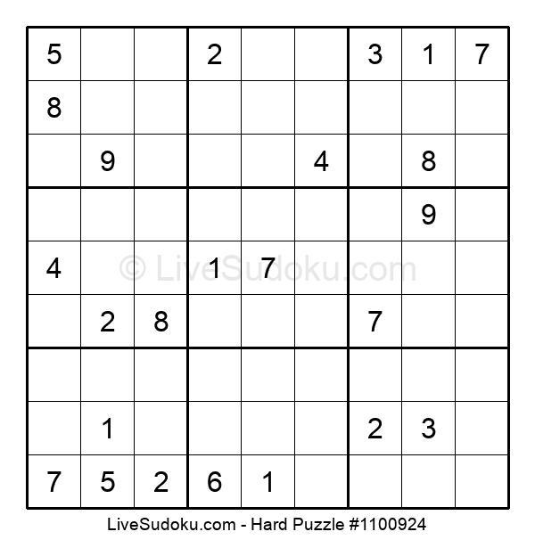 Hard Puzzle #1100924