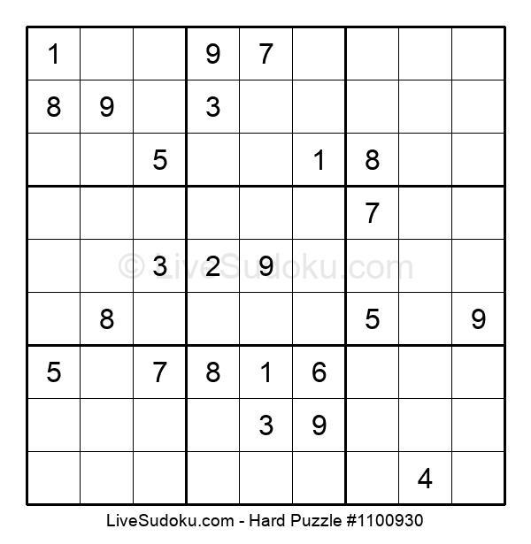 Hard Puzzle #1100930