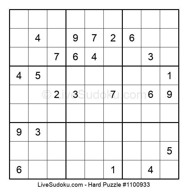 Hard Puzzle #1100933