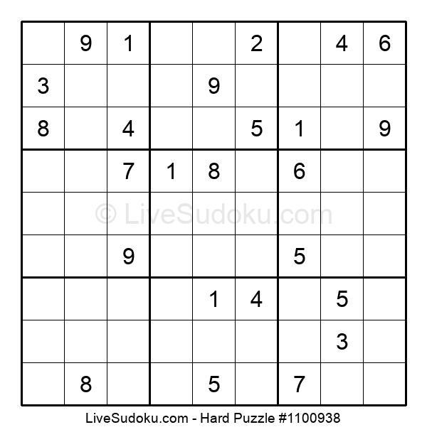 Hard Puzzle #1100938