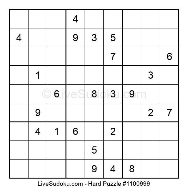Hard Puzzle #1100999
