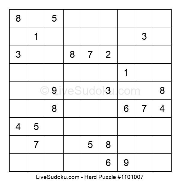 Hard Puzzle #1101007