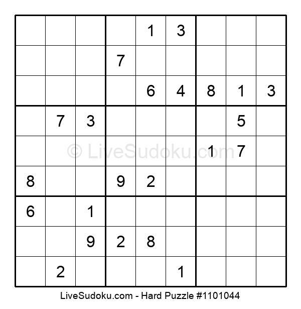 Hard Puzzle #1101044