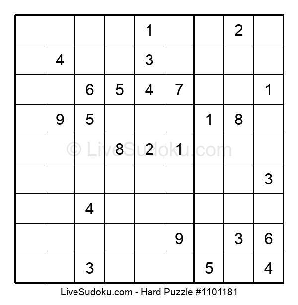 Hard Puzzle #1101181