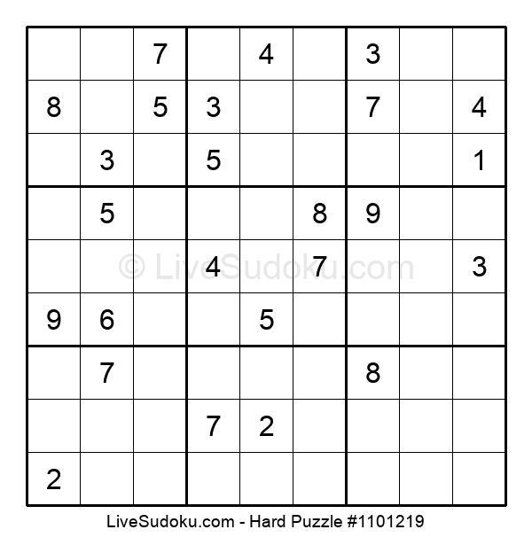 Hard Puzzle #1101219