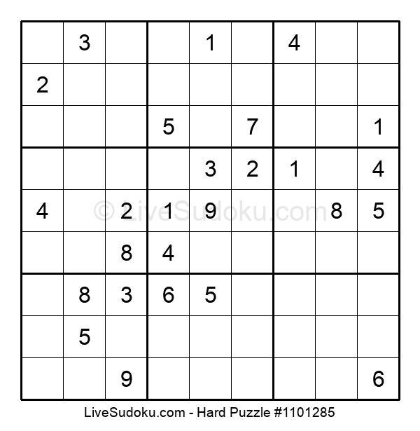 Hard Puzzle #1101285