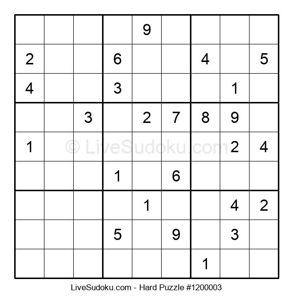 Hard Puzzle #1200003