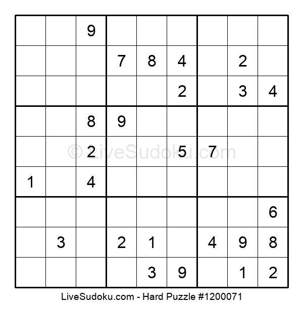 Hard Puzzle #1200071