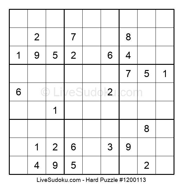 Hard Puzzle #1200113