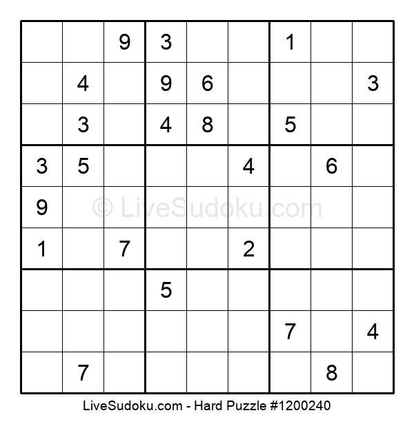 Hard Puzzle #1200240