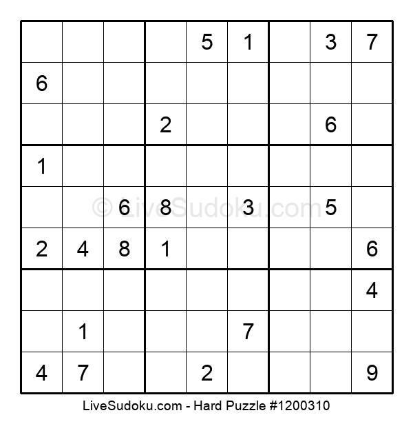 Hard Puzzle #1200310