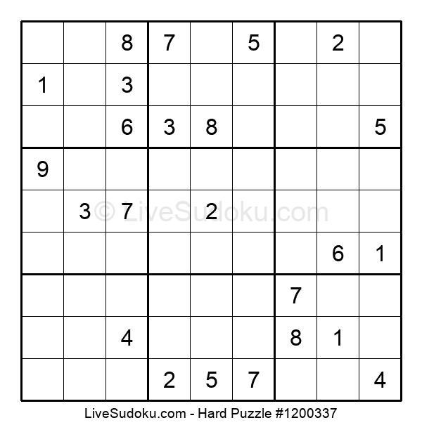 Hard Puzzle #1200337