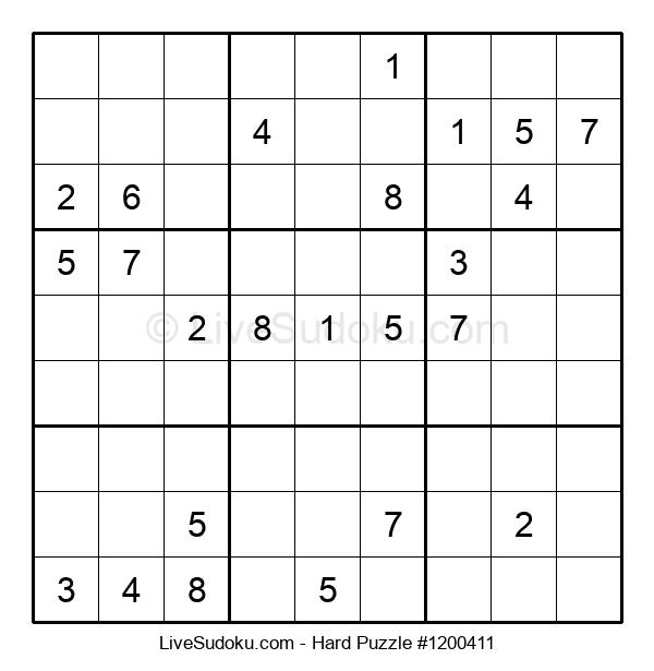 Hard Puzzle #1200411