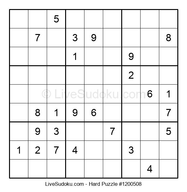 Hard Puzzle #1200508