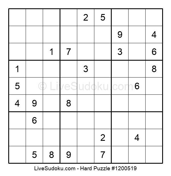 Hard Puzzle #1200519